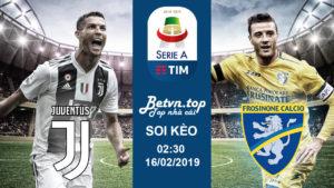 Soi kèo Juventus vs Frosinone, 02h30 ngày 16/02 Serie A - Nhà cái W88