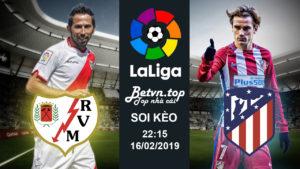 Soi kèo Rayo vs Atletico, 22h15 ngày 16/02 La Liga - Nhà cái W88