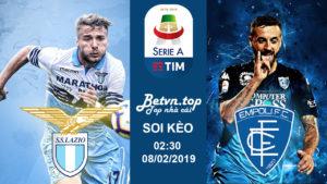 Soi kèo nhà cái W88 – Lazio vs Empoli, 02h30 ngày 08/02: VĐQG Italia