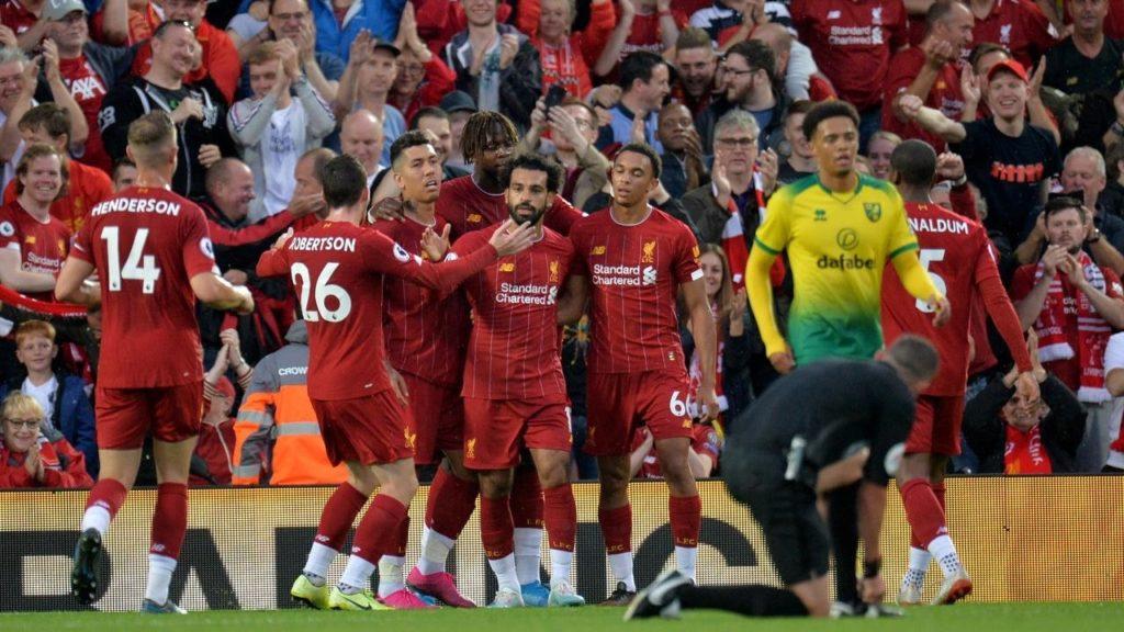 Liverpool có chiến thắng đậm 4-1 trước Norwich City ở trận mở màn Ngoại hạng Anh
