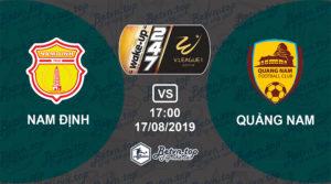 Soi kèo nhà cái Fb88 Nam Định vs Quảng Nam, 17h00 ngày 17/08/2019 VĐQG Việt Nam