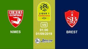 Hướng dẫn cá độ bóng đá qua mạng Nimes vs Brestois, 1h00 1/09/2019 VĐQG Pháp