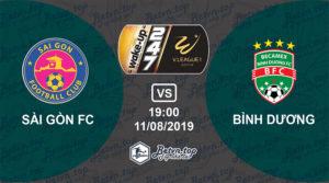 Soi kèo nhà cái W88 Sài Gòn vs Bình Dương, 19h ngày 11/08/2019 V-League