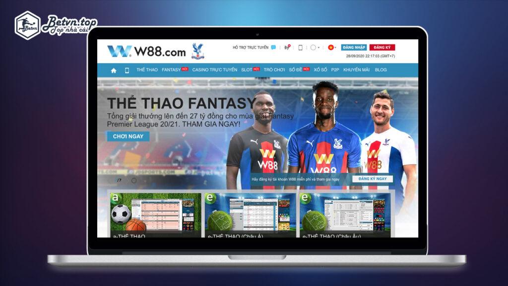 giao diện nhà cái web w88