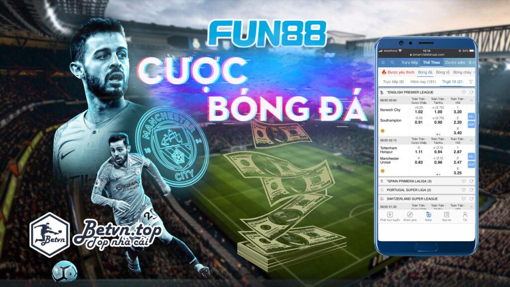 Hướng dẫn cược bóng đá fun88