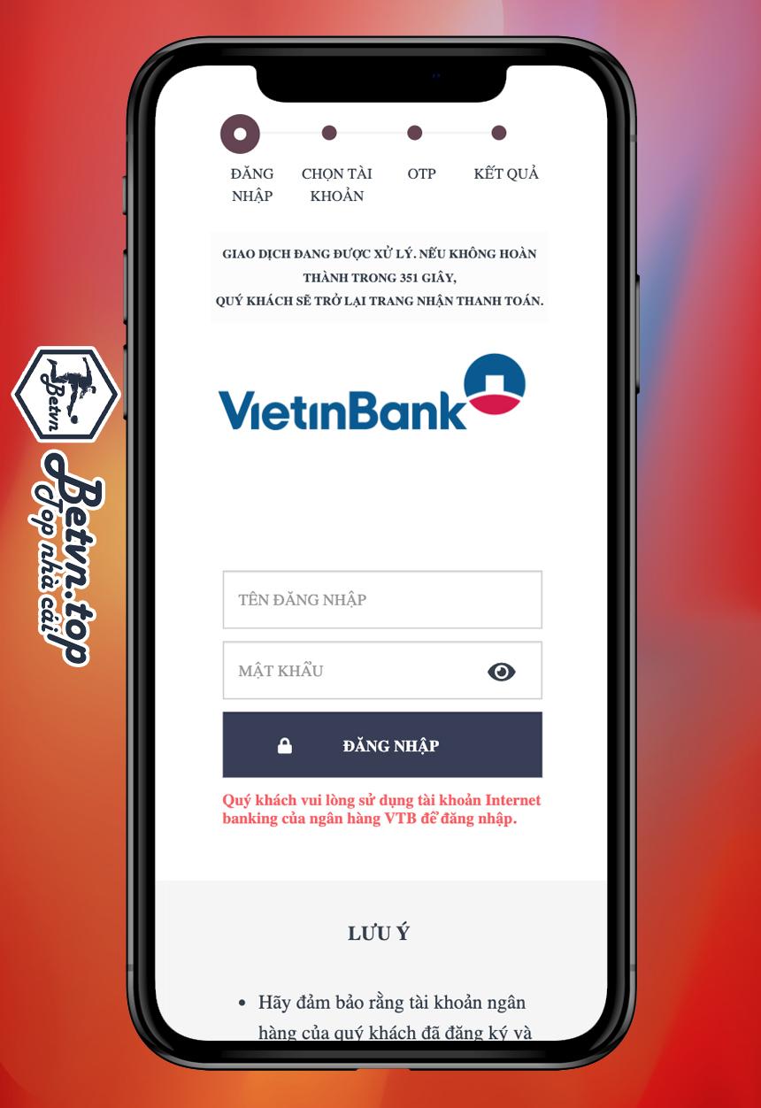 đăng nhập tài khoản ngân hàng dafabet