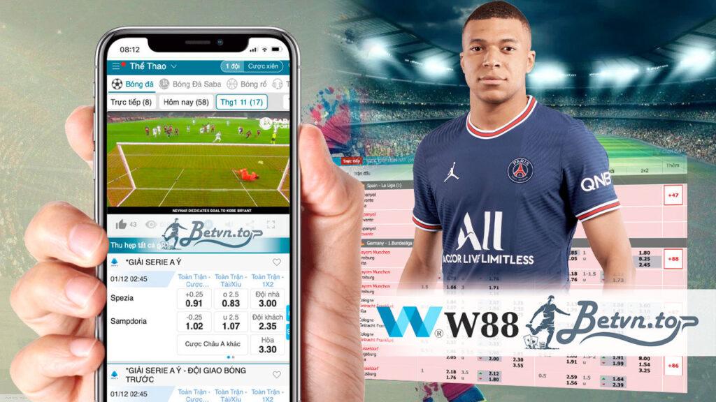 tỷ lệ bóng đá w88