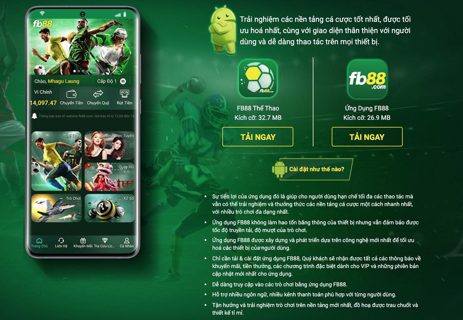 ứng dụng fb88