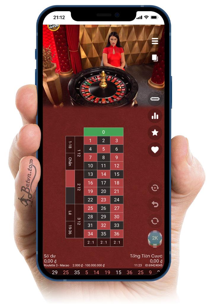 chơi roulette 188