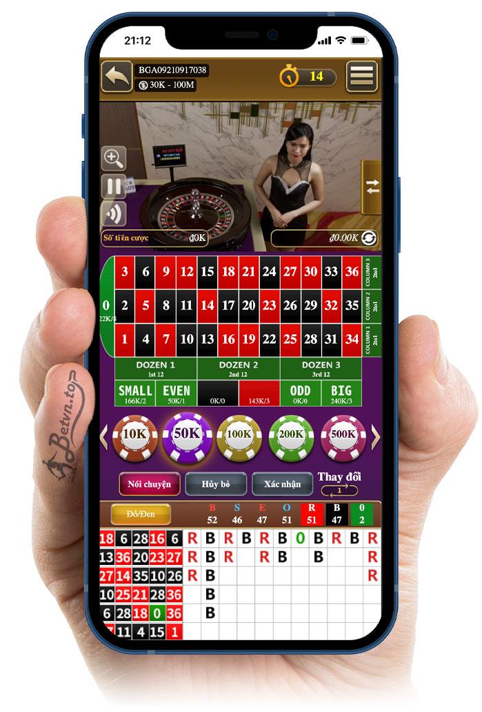 roulette chơi tại bk8