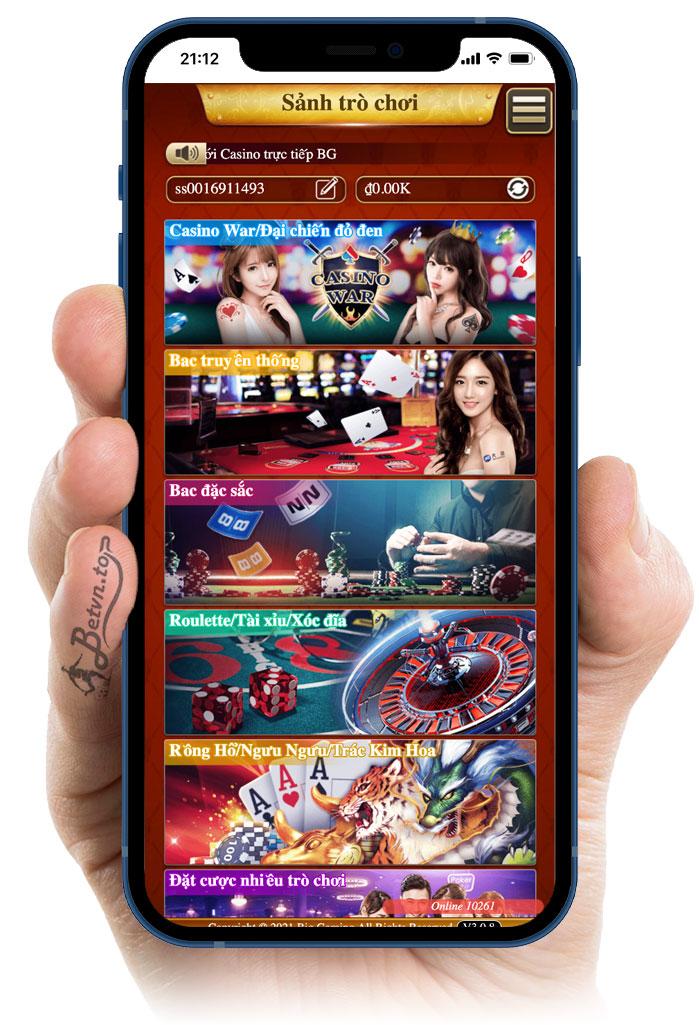 sảnh casino bk8