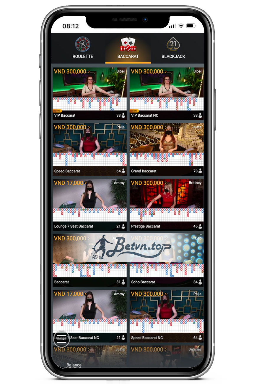 sảnh casino online w88