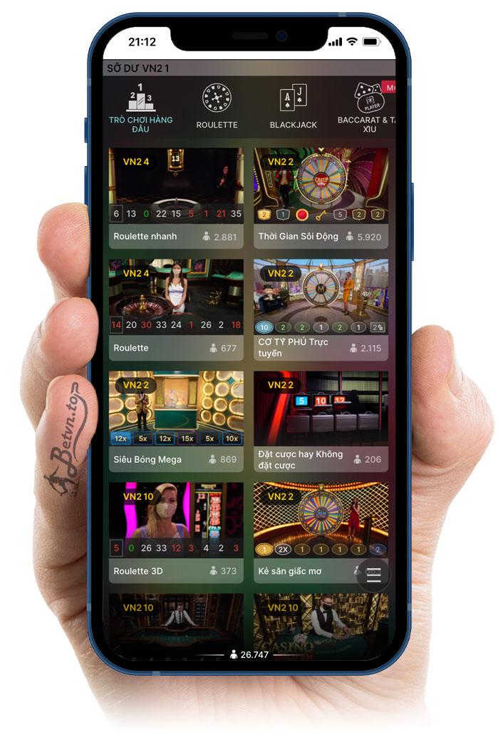 sảnh casino w88