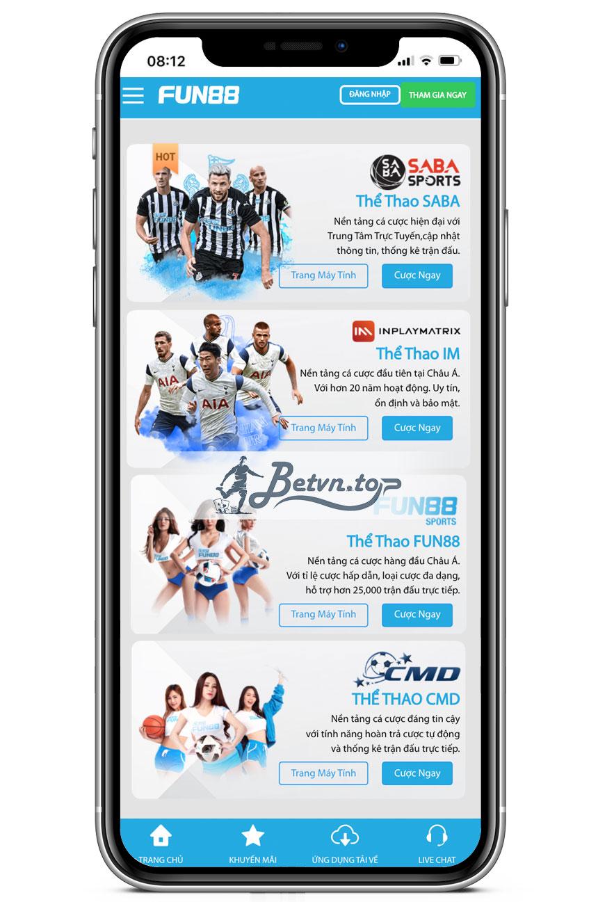 cược bóng đá online FUn88