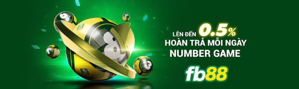 hoàn trả number game fb88