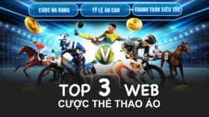 top 3 web cược thể thao ảo