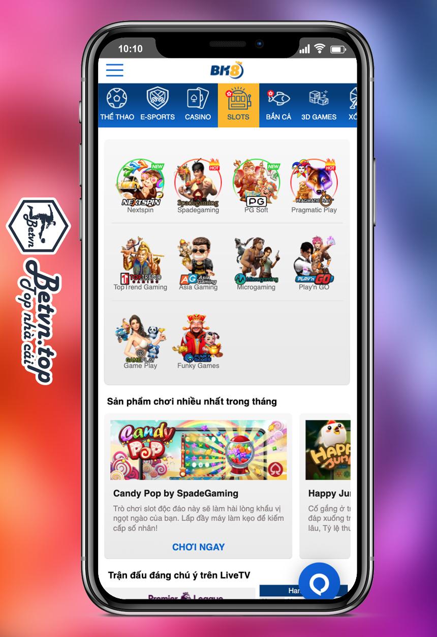 Slot game mobile bk8