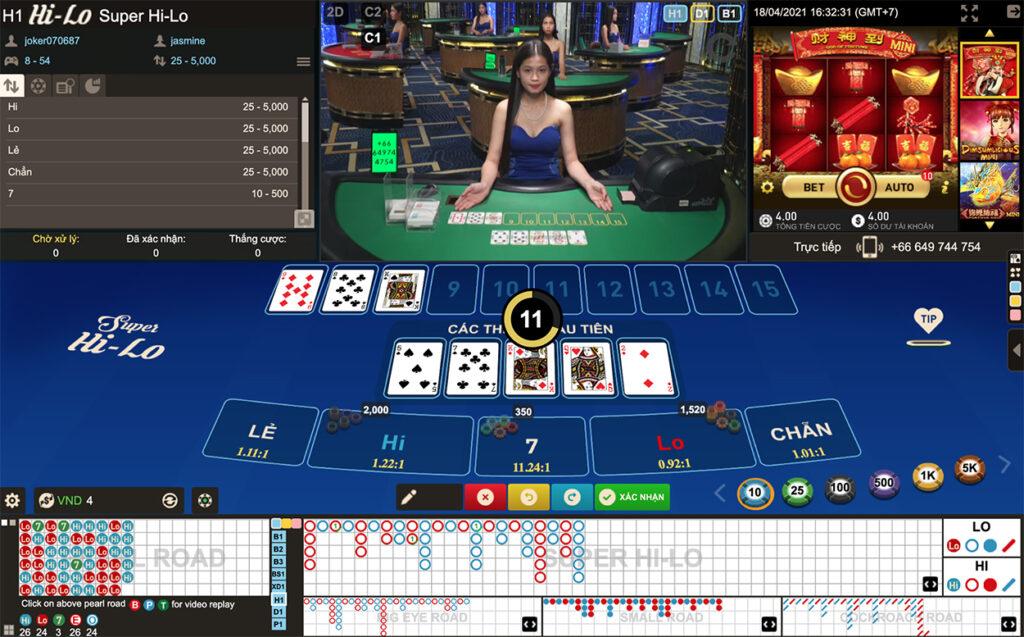 chơi hilo trực tuyến casino