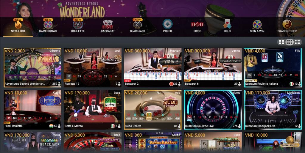đa dạng casino online playtech