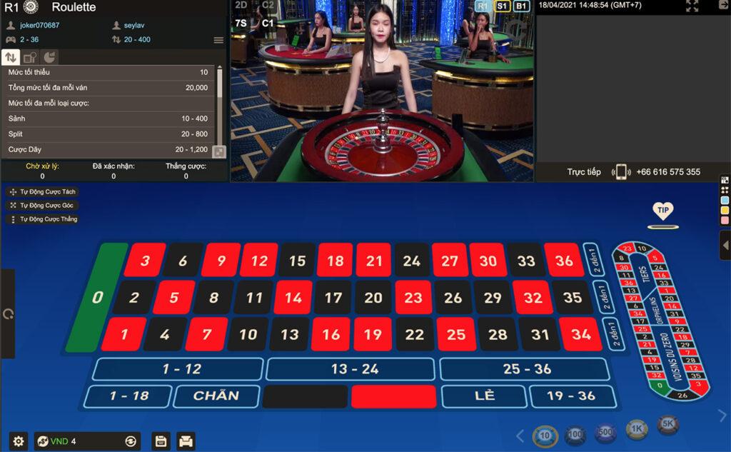 Roulette trực tuyến